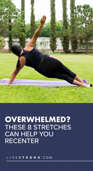 8 Stretches to Help You Recenter Graphic
