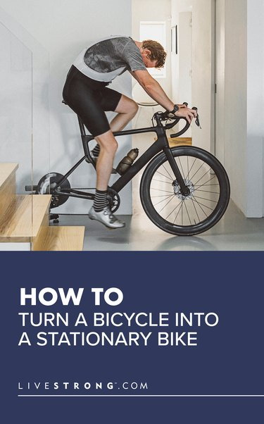 How to Turn a Bicycle Into a Stationary Bike