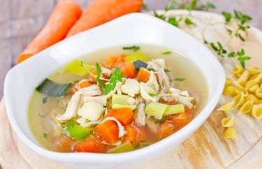 low calorie chicken recipes Feel Better Chicken Soup
