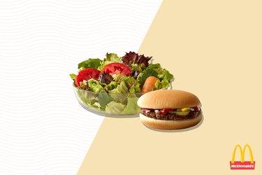 McDonald's Hamburger and Side Salad