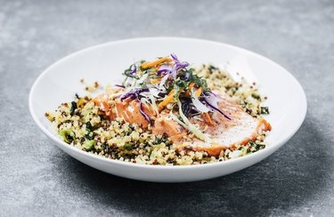 Salmon and Broccolette Superfood Salad recipe