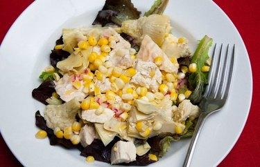 Artichoke, Chicken and Corn Salad recipe