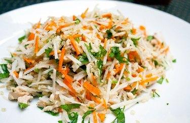 Daikon, Salmon, and Quinoa Grain Salad