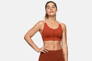 Outdoor Voices Zip Bra