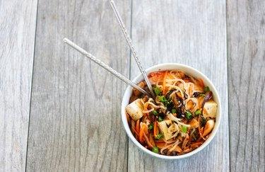 Shirataki Noodle Tofu Bowl with Kimchi recipe