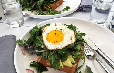 grilled cheese recipes Grilled Cheese Sandwiches With Avocado, Arugula and Fried Egg