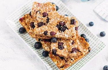 Blueberry Oat Bar homemade granola bars