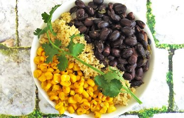 Vegan Couscous Verde Bowl With Black Beans and Corn