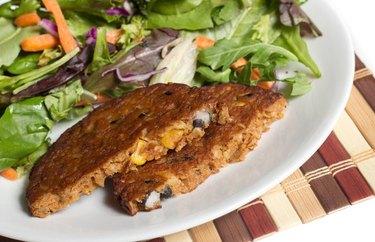California White Bean Burger Salad