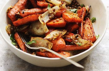 Sweet and Spicy Carrot and Lentil Salad maple syrup recipes