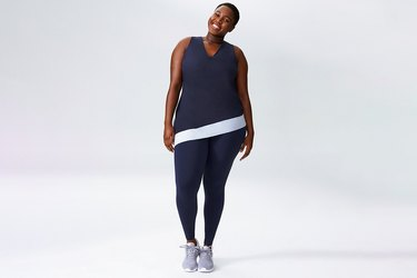 Universal Activewear Blue Tank and leggings