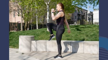 Move 2: Reverse Lunge to Knee Raise