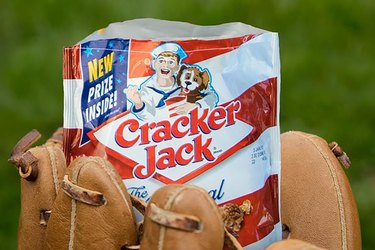 Cracker Jack and glove