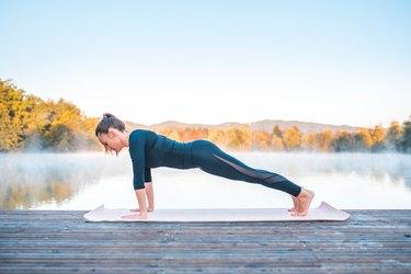 Woman Doing Plank Pose Yoga Pose for Balance