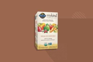 Garden of Life mykind Organics Vegan D3 Chewable, one of the best vitamin D supplements