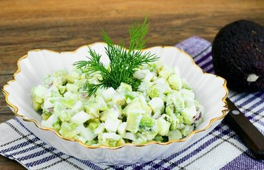 Avo-Egg Salad as an example of Weight Watchers dinner recipes