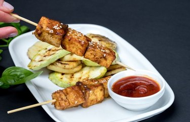 Pan-Grilled Tofu Skewers as an example of Weight Watchers dinner recipes