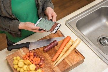 Alanna tracks food on the MyPlate app