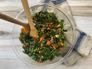 Everything But the Kitchen Sink Salad hearty salad recipe