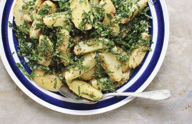 Roasted Potato Salad With Kale and Grainy Mustard recipe