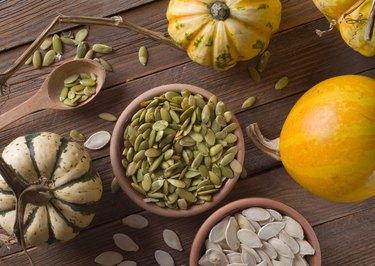 pumpkin with seeds (pepitas)