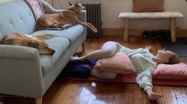 Move 2: Side-Lying Pose Into Gentle Supine Twist