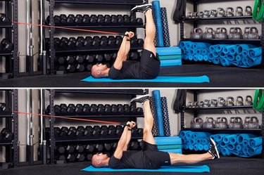 5. Leg Lowering With Band