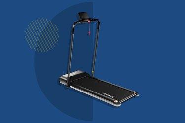 GYMAX Electric Folding Treadmill