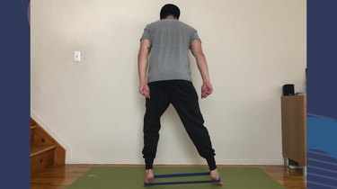 Move 5: Banded Side Steps With Calf Raise