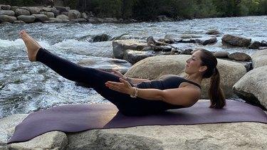 Move 17: Half Boat Pose (Ardha Navasana)