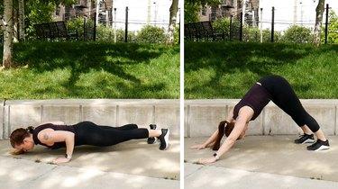 Move 3: Push-Up to Downward-Facing Dog