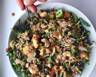 Salad recipes thai cashew quinoa salad