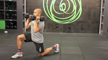Move 4: Dumbbell Forward Lunge