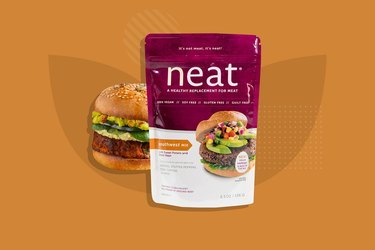 Neat Plant-Based Southwest Meat Substitute Mix Veggie Burger