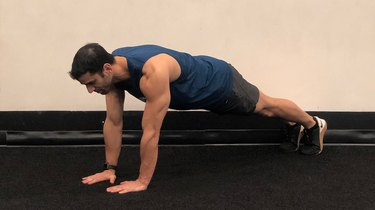 4. Plank to Narrow-Grip Push-Up Hold