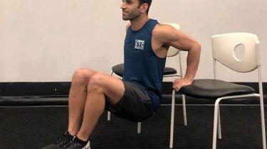 2. Chair Triceps Dip