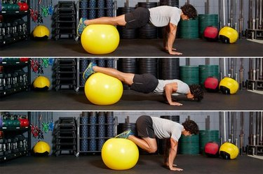 35. Swiss-Ball Jackknife With Push-Up