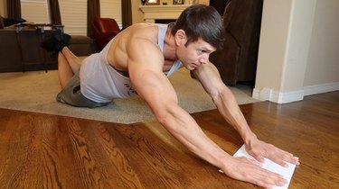 Move 2: Slider Straight-Arm Lat Pulls
