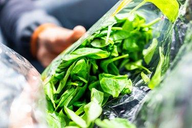 Bagged salad prewashed salad greens bagged spinach salad