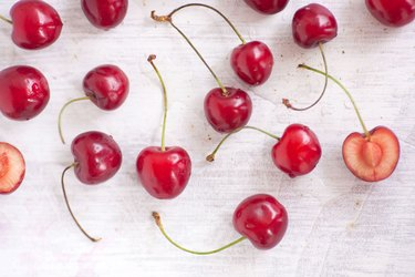 Stemmed Cherries and Cherry Pit
