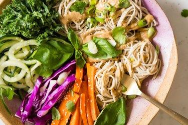 Soba noodle salad recipes sesame oil carrots cabbage