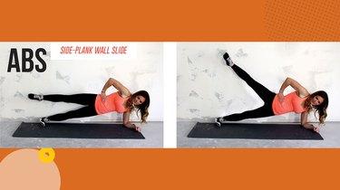 Move 1: Side-Plank Wall Slide