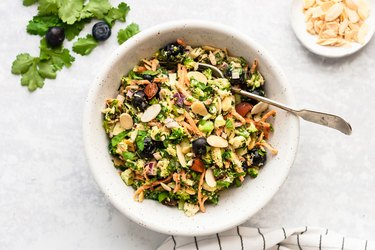 Broccoli salad recipe carrots blueberries sunflower seeds