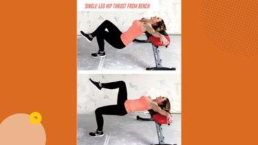 Move 2: Single-Leg Hip Thrust From Bench