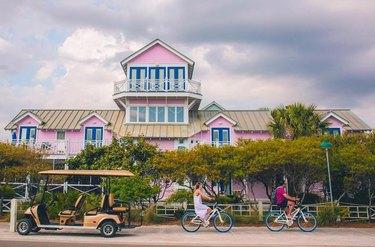 couple biking in Seaside, Florida