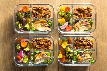 Homemade Keto Chicken Meal Prep Containers