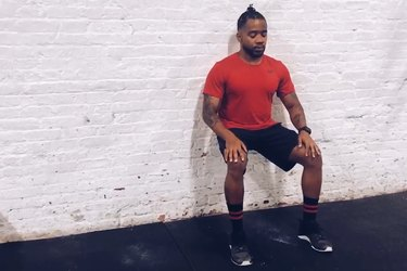 Proper form for wall sits.
