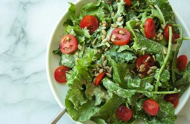 Caesar-style Kale Salad Plant Based Dinner Recipes
