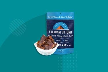 Kalahari Biltong Garlic Air-Dried, Thinly Sliced Beef