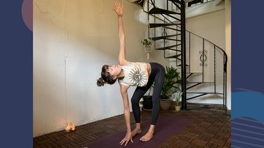 Move 9: Twisted Standing Forward Fold (Uttanasana Variation)